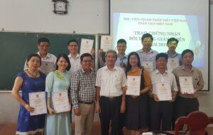 Tổng kết, trao giấy chứng nhận lớp bồi dưỡng giảng viên năm 2019